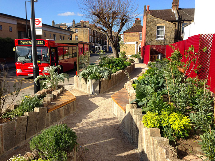 Edible bus stop in London